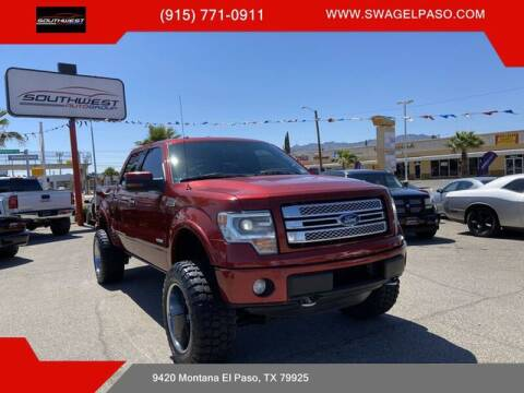 2013 Ford F-150 for sale at SOUTHWEST AUTO GROUP-EL PASO in El Paso TX