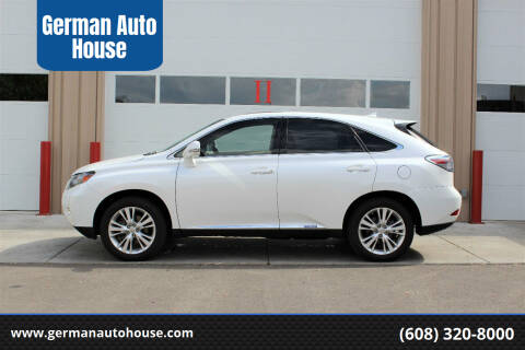 2012 Lexus RX 450h for sale at German Auto House in Fitchburg WI