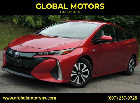 2018 Toyota Prius Prime for sale at GLOBAL MOTORS in Binghamton NY
