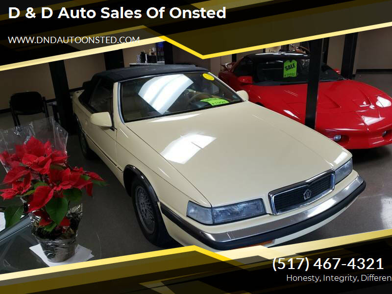 1989 Chrysler TC for sale at D & D Auto Sales Of Onsted in Onsted   Brooklyn MI