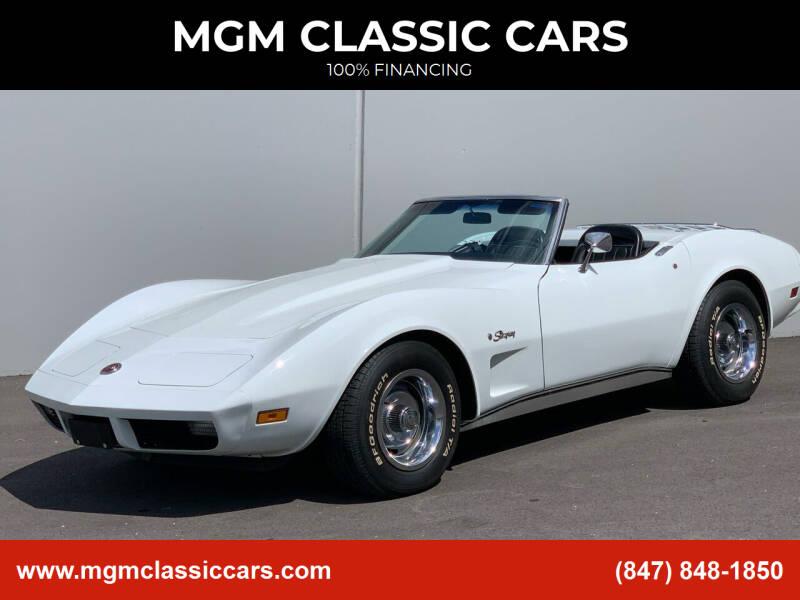 1974 Chevrolet Corvette for sale at MGM CLASSIC CARS in Addison IL