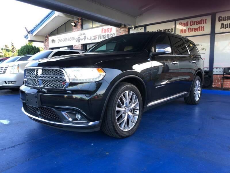 2014 Dodge Durango for sale at ELITE AUTO WORLD in Fort Lauderdale FL