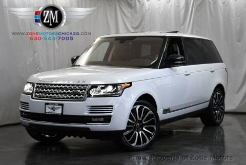 2015 Land Rover Range Rover for sale at ZONE MOTORS in Addison IL