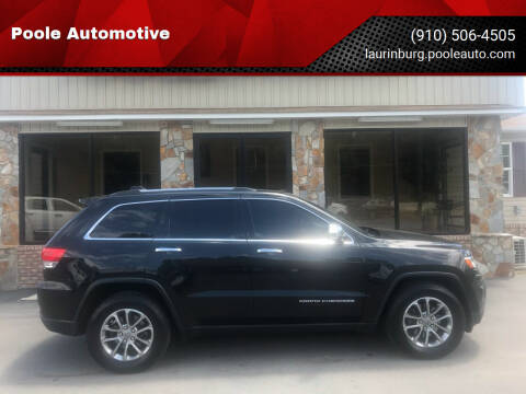 2014 Jeep Grand Cherokee for sale at Poole Automotive in Laurinburg NC