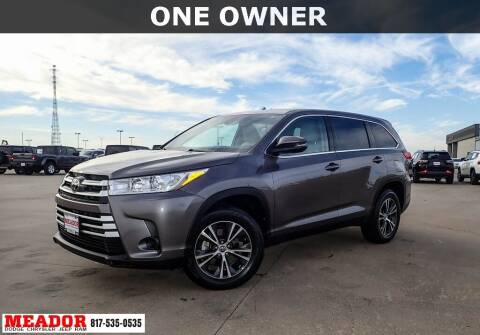 2019 Toyota Highlander for sale at Meador Dodge Chrysler Jeep RAM in Fort Worth TX