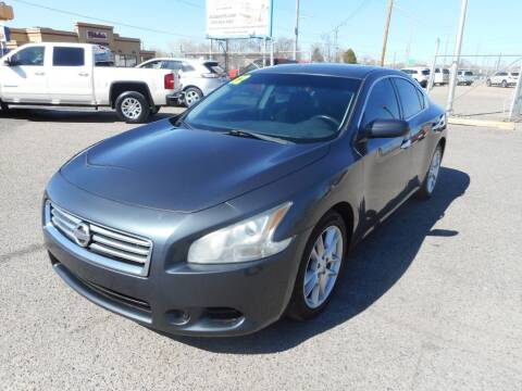 2012 Nissan Maxima for sale at AUGE'S SALES AND SERVICE in Belen NM