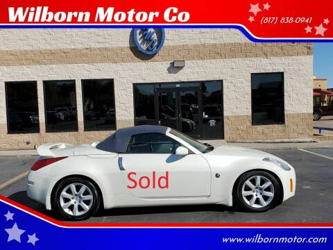 2005 Nissan 350Z for sale at Wilborn Motor Co in Fort Worth TX