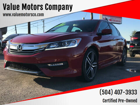 2017 Honda Accord for sale at Value Motors Company in Marrero LA