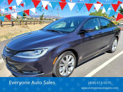 2016 Chrysler 200 for sale at Everyone Auto Sales in Santa Clara CA