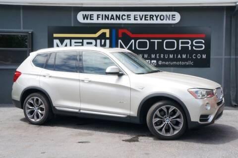2015 BMW X3 for sale at Meru Motors in Hollywood FL
