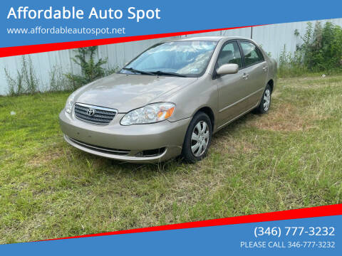 2006 Toyota Corolla for sale at Affordable Auto Spot in Houston TX