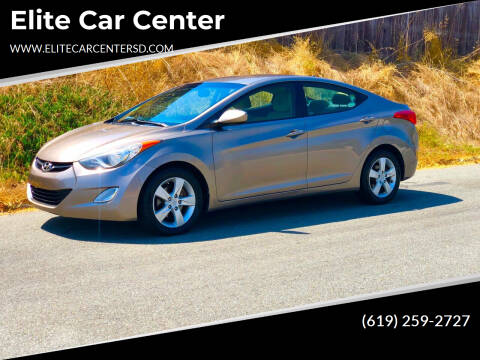 2012 Hyundai Elantra for sale at Elite Car Center in Spring Valley CA