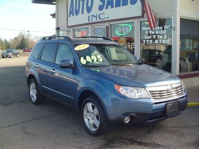 2010 Subaru Forester for sale at G & L Auto Sales Inc in Roseville MI