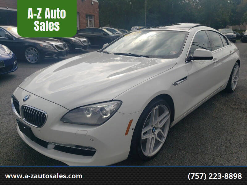 2014 BMW 6 Series for sale at A-Z Auto Sales in Newport News VA