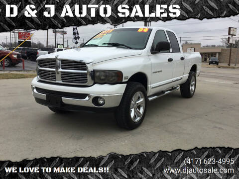 2004 Dodge Ram Pickup 1500 for sale at D & J AUTO SALES in Joplin MO