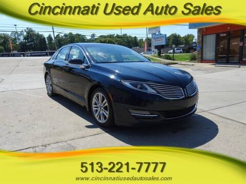 2014 Lincoln MKZ for sale at Cincinnati Used Auto Sales in Cincinnati OH