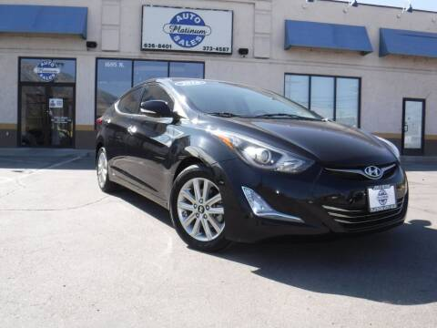 2016 Hyundai Elantra for sale at Platinum Auto Sales in Provo UT