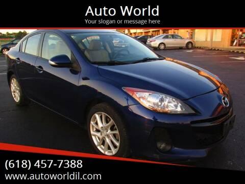 2012 Mazda MAZDA3 for sale at Auto World in Carbondale IL