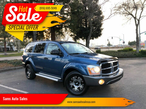 2006 Dodge Durango for sale at Sams Auto Sales in North Highlands CA