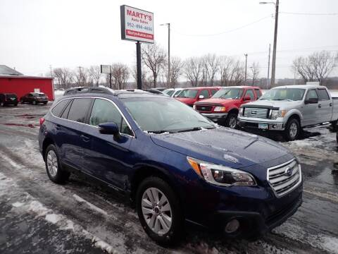 2015 Subaru Outback for sale at Marty's Auto Sales in Savage MN