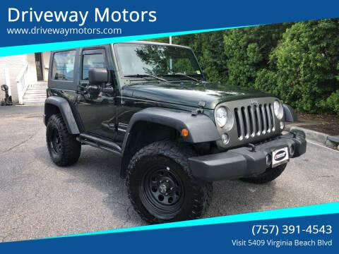 2010 Jeep Wrangler for sale at Driveway Motors in Virginia Beach VA
