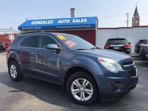 2011 Chevrolet Equinox for sale at Gonzalez Auto Sales in Joliet IL