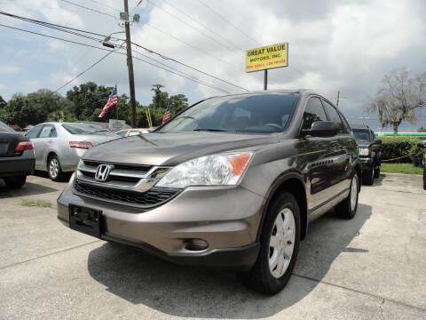 2011 Honda CR-V for sale at GREAT VALUE MOTORS in Jacksonville FL