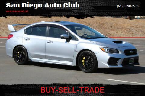 2018 Subaru WRX for sale at San Diego Auto Club in Spring Valley CA