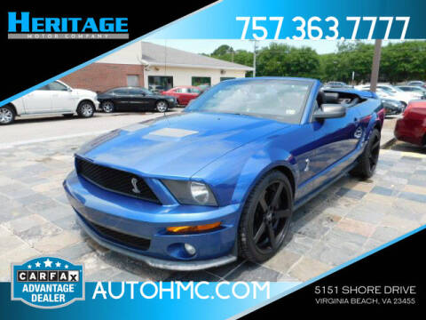 2007 Ford Shelby GT500 for sale at Heritage Motor Company in Virginia Beach VA