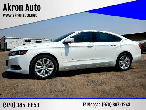 2016 Chevrolet Impala for sale at Akron Auto in Akron CO