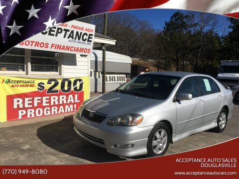 2006 Toyota Corolla for sale at Acceptance Auto Sales Douglasville in Douglasville GA
