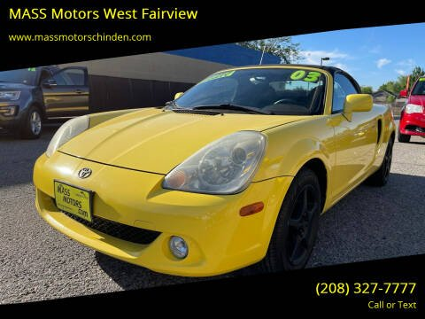2003 Toyota MR2 Spyder for sale at MASS Motors West Fairview in Boise ID