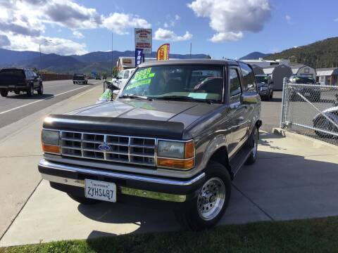 1990 Ford Bronco II for sale at Siskiyou Auto Sales in Yreka CA