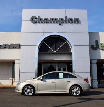 2013 Chevrolet Cruze for sale at Champion Chevrolet in Athens AL