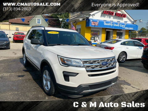 2018 Ford Explorer for sale at C & M Auto Sales in Detroit MI