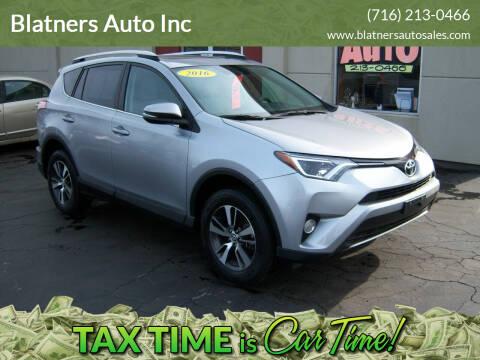 2016 Toyota RAV4 for sale at Blatners Auto Inc in North Tonawanda NY