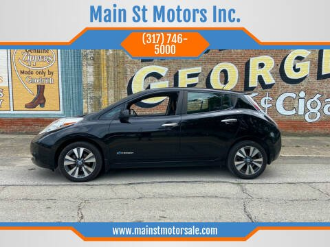 2013 Nissan LEAF for sale at Main St Motors Inc. in Sheridan IN
