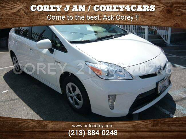 2015 Toyota Prius for sale at WWW.COREY4CARS.COM / COREY J AN in Los Angeles CA