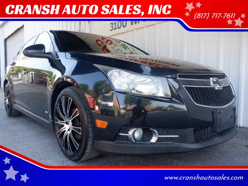 2014 Chevrolet Cruze for sale at CRANSH AUTO SALES, INC in Arlington TX