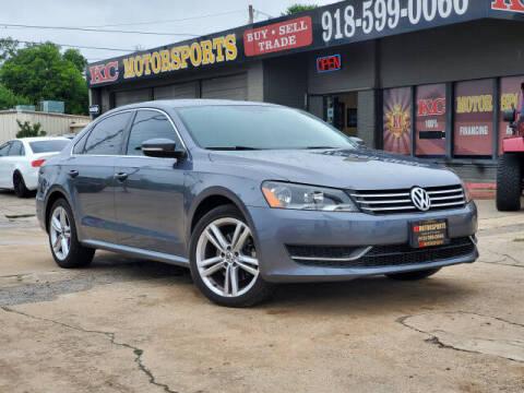 2014 Volkswagen Passat for sale at KC MOTORSPORTS in Tulsa OK