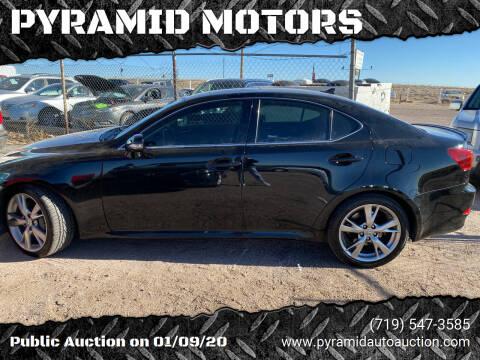 2009 Lexus IS 350 for sale at PYRAMID MOTORS - Pueblo Lot in Pueblo CO