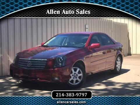 2005 Cadillac CTS for sale at Allen Auto Sales in Dallas TX