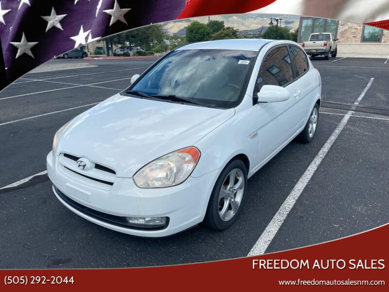 2008 Hyundai Accent for sale at Freedom Auto Sales in Albuquerque NM