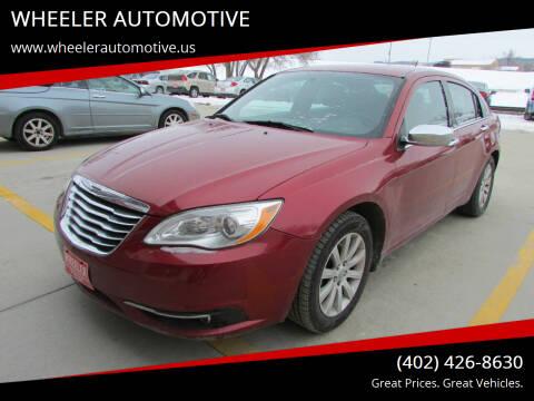 2011 Chrysler 200 for sale at WHEELER AUTOMOTIVE in Blair NE