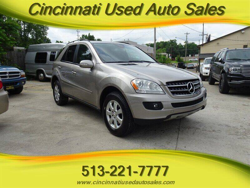 2007 Mercedes-Benz M-Class for sale at Cincinnati Used Auto Sales in Cincinnati OH