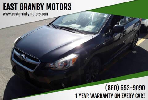 2014 Subaru Impreza for sale at EAST GRANBY MOTORS in East Granby CT