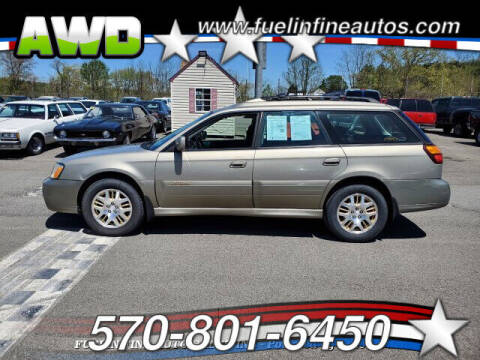 2003 Subaru Outback for sale at FUELIN FINE AUTO SALES INC in Saylorsburg PA