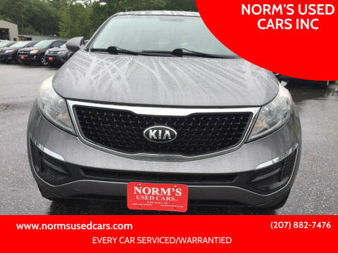 2016 Kia Sportage for sale at NORM'S USED CARS INC in Wiscasset ME