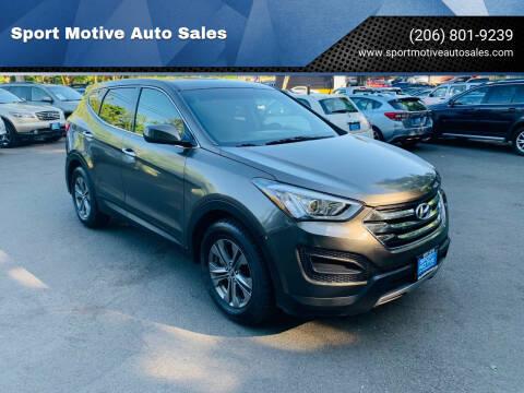 2014 Hyundai Santa Fe Sport for sale at Sport Motive Auto Sales in Seattle WA