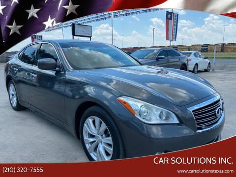 2011 Infiniti M37 for sale at Car Solutions Inc. in San Antonio TX